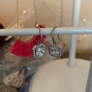 Stella and Dot cz drop earrings